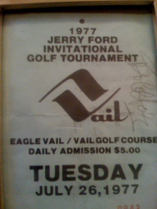 Jerry Ford Invitational Golf Tournament Pass